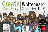 پروژه افتر افکت آماده Create Your Story Whiteboard Character Pack